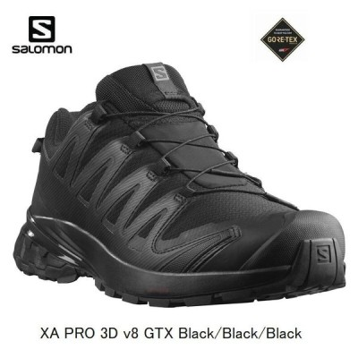 サロモン SALOMON XA PRO 3D v8 GTX BlackBlackBlack L40988900 ゴアテックス トレイルランニング シューズ メンズ