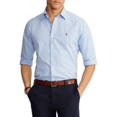 ラルフローレン メンズ シャツ トップス Cotton Gingham Plaid Classic Fit Oxford Shirt