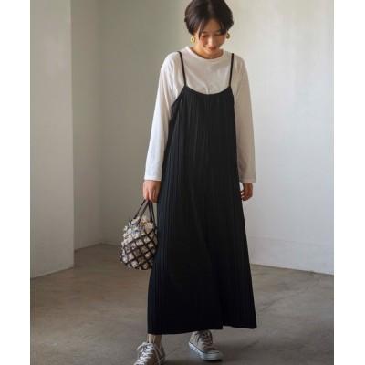 GeeRA / 【WEB限定】プリーツワイドサロペット&Tシャツセット WOMEN オールインワン・サロペット > サロペット/オーバーオール