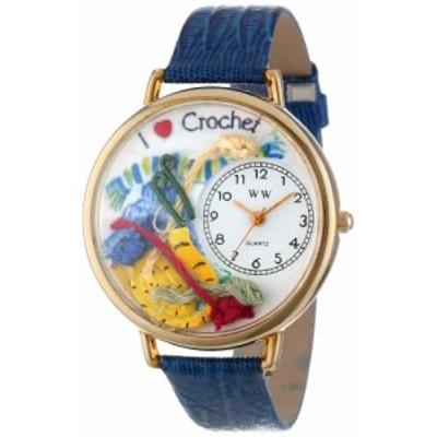 腕時計 気まぐれなかわいい プレゼント Whimsical Watches Unisex G0450011 Crochet Royal Blue Lea