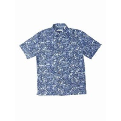 Tommy Bahama トミーバハマ ファッション アウター Tommy Bahama Shirt Blue Jean Size 3XL Short Sleeve Button Down Silk
