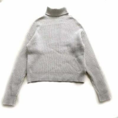【中古】ブランドマイヤー BRANDMAIR オーバーサイズ ニット セーター タートルネック ウール 15-080-250-0000-3-0
