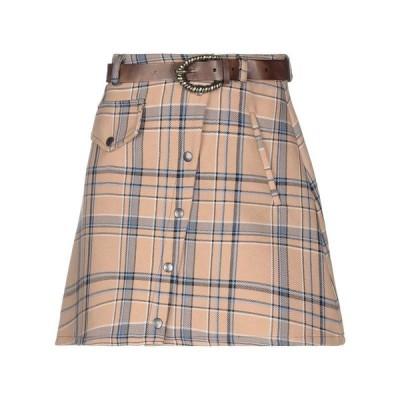 SOUVENIR ミニスカート  レディースファッション  ボトムス  スカート  ロング、マキシ丈スカート キャメル