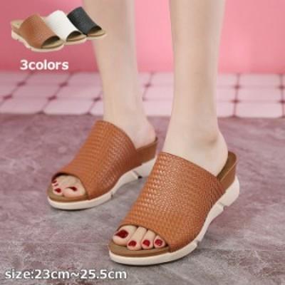サンダル レディース 靴 ヒール フラット 厚底 幅広 柔らかい 涼しい   オシャレ かわいい シンプル 歩きやすい 痛くない 履きやすい 夏