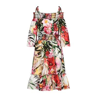 ブルマリン BLUMARINE 7分丈ワンピース・ドレス グリーン 42 コットン 100% 7分丈ワンピース・ドレス