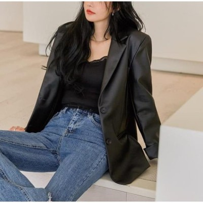 common unique レディース ジャケット Single-Breasted Leatherette Jacket WITH CELEBRITY _ WHEE IN(MAMAMOO)
