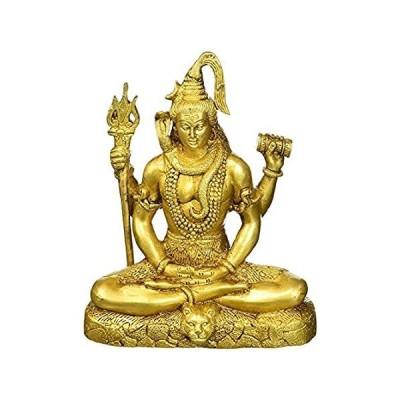 2.6 Kg Brass Hindu Idol Lord Shiva Figurine for Gift (8 inch) Hindu God Lor