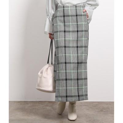 【ロペ マドモアゼル/ROPE mademoiselle】 ウールチェックアイラインマキシスカート