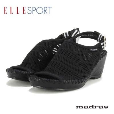 SALE30%OFF ELLESPORT エルスポーツ マドラス社製 生地(合成繊維) メッシュ素材 バックベルトサンダル