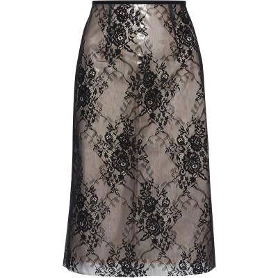 GOEN.J 7分丈スカート ブラック L ナイロン 57% / ポリウレタン 43% 7分丈スカート