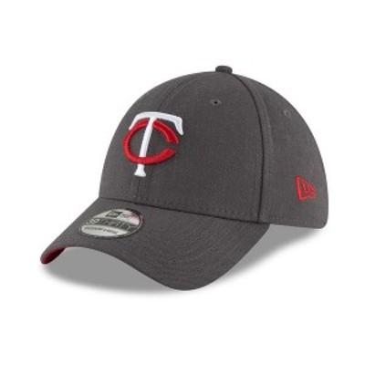 ニューエラ メンズ 帽子 アクセサリー Minnesota Twins Charcoal Classic 39THIRTY Cap Charcoal
