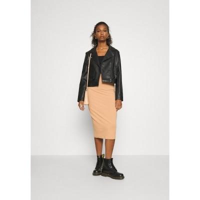 エブンアンドオッド スカート レディース ボトムス 2 PACK - Pencil skirt - black/camel