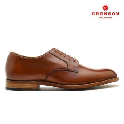 [1,000円クーポン][限定SALE]グレンソン リアム ハンド ペインテッド オックスフォード シューズ 英国製 革靴 紳士靴 111638 タン カーフ メンズ