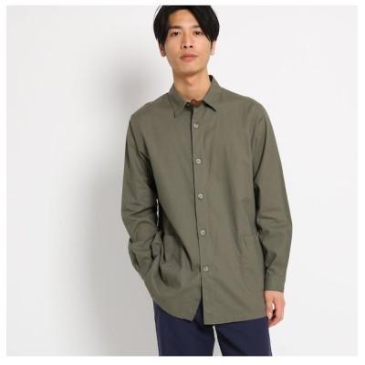 【ザ ショップ ティーケー/THE SHOP TK】 綿麻ロング丈長袖シャツ