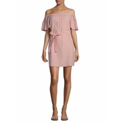 コレクティブコンセプト レディース ワンピース Striped Tie Waist Mini Dress