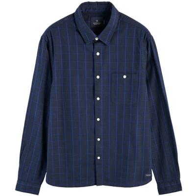 SCOTCH&SODA/スコッチ&ソーダ LONG SLEEVE 100% COTTON PATTERNED OXFORD SHIRT COMBO B オックスフォードシャツ 長袖