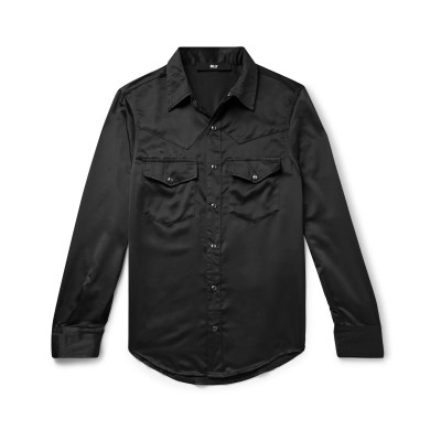 BILLY シャツ ブラック S レーヨン 59% / レーヨン 41% シャツ