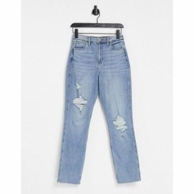 ホリスター Hollister レディース ジーンズ・デニム ボトムス・パンツ Knee Rip Boyfriend Jeans In Indigo Wash