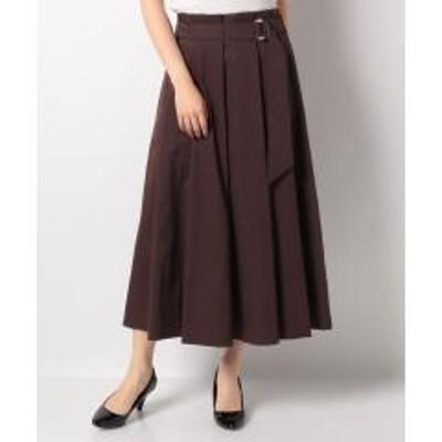 Leilian(レリアン)【my perfect wardrove】タックロングスカート