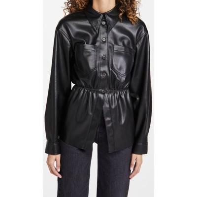ナヌシュカ Nanushka レディース ブラウス・シャツ トップス Thalita Faux Leather Shirt Black