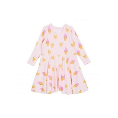 Chaser Kids 女の子用 ファッション 子供服 ドレス Recycled Bliss Knit Long Sleeve Waisted Dress (Toddler/Little Kids) - Pinky