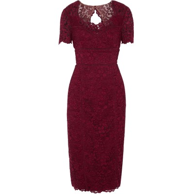 MIKAEL AGHAL 7分丈ワンピース・ドレス ディープパープル 4 ポリエステル 100% 7分丈ワンピース・ドレス