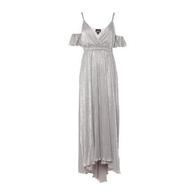 ジャストカヴァリ JUST CAVALLI ロングワンピース&ドレス ライトグレー 40 ポリエステル 100% ロングワンピース&ドレス