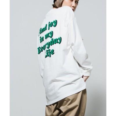 tシャツ Tシャツ WEGO/バックロゴビッグシルエットロンT