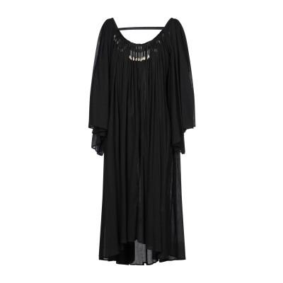 GIACOBINO 7分丈ワンピース・ドレス ブラック 40 コットン 100% 7分丈ワンピース・ドレス