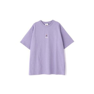 ROSE BUD/ローズ バッド バックプリントTシャツ パープル M
