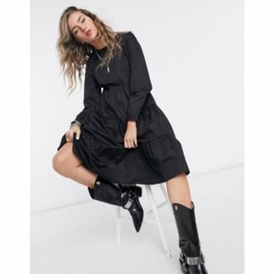 ヴィラ Vila レディース ワンピース ティアードドレス ワンピース・ドレス tiered smock dress in black ブラック