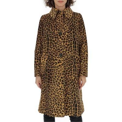 プラダ レディース コート アウター Prada Leopard Print Single-Breasted Coat -