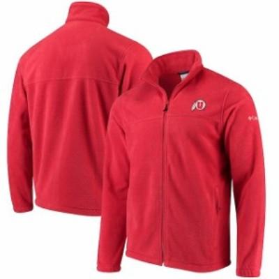 Columbia コロンビア スポーツ用品  Columbia Utah Utes Flanker Full-Zip Fleece Jacket - Red