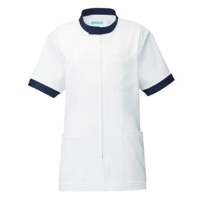 247 KAZEN 男女兼用ジャケット半袖 ナースウェア・白衣・介護ウェア