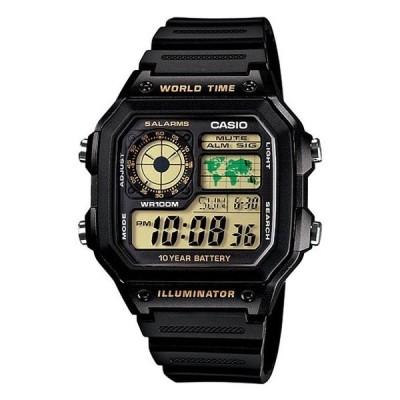 腕時計 CASIO カシオ メンズ レディース デジタル ブラック チープカシオ AE1200WH-1BV