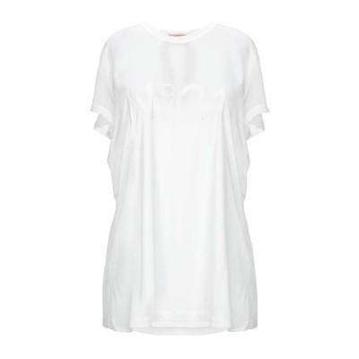 ヌメロ ヴェントゥーノ N°21 T シャツ ホワイト 46 レーヨン 100% T シャツ