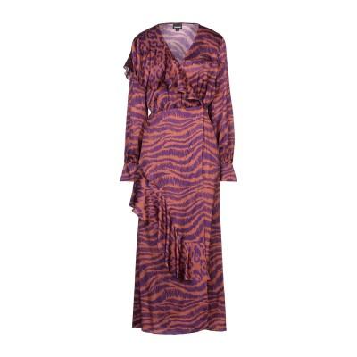 ジャストカヴァリ JUST CAVALLI ロングワンピース&ドレス ブラウン 38 レーヨン 100% ロングワンピース&ドレス