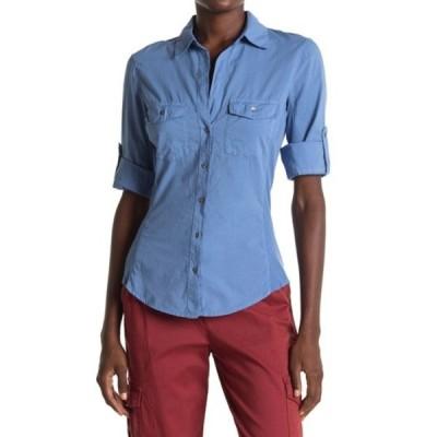 ジェームス パース レディース シャツ トップス Contrast Ribbed Surplus Shirt HEAVEN