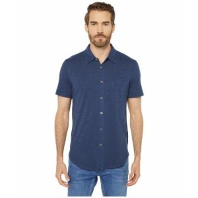 モッドドック メンズ シャツ トップス Montana Short Sleeve Button Front Shirt True Navy