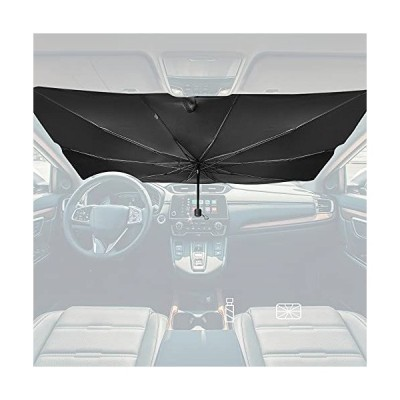 SubaMoto 車用 サンシェード ガラスハンマーなし Lサイズ 車用パラソル 傘 車 フロント サンシェード 日よけ フロントガラス ?折りたたみ