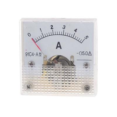 uxcell アナログ電流計 クリアホワイト クラス5精度 DC 0-5A ダイヤル 電流試験 91C4モデル