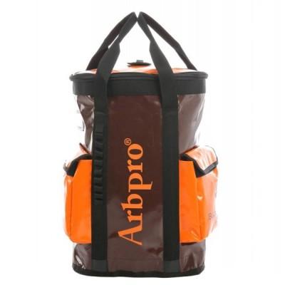 アーボプロ バケットバックパック 75L ブラウン×オレンジ AP0045