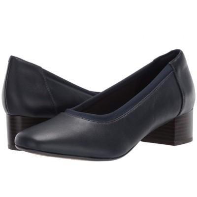 クラークス Clarks レディース ヒール シューズ・靴 Chartli Fame Navy Leather
