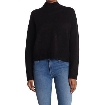 ダブルゼロ レディース ニット&セーター アウター Straight Fit Mock Neck Sweater BLACK