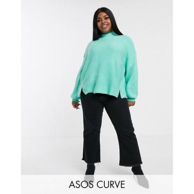 エイソス レディース ニット・セーター アウター ASOS DESIGN Curve sweater with split hem