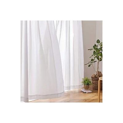 ナイスデイ レースカーテン 2枚組 ホワイト 100×198cm テイジン エコリエ 使用 日本製 UVカット率94% 遮熱 冷暖房 節約 ミラー効果