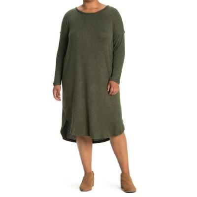 ボベー レディース ワンピース トップス Long Sleeve Cozy Dress OLIVE