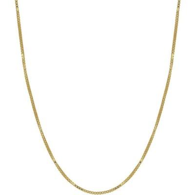 """メイシーズ Macy's メンズ ネックレス ジュエリー・アクセサリー Box Link 18"""" Chain Necklace (0.5mm) in 18k Gold Yellow"""