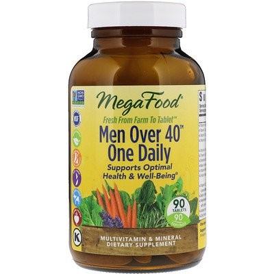 メンオーバー 40 (40歳以上の男性向け)ワンデイリー、鉄分不使用、90 錠