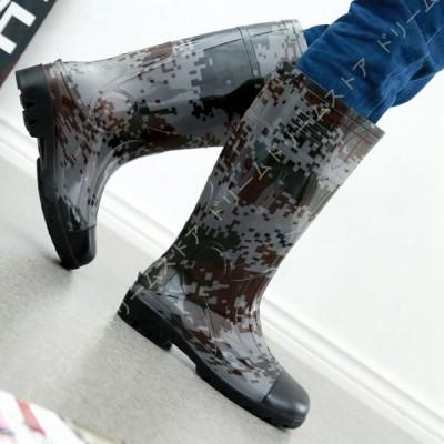 おしゃれ レインブーツ メンズ 雨靴 レイングッズ レインシューズ ショートレインブーツ 超軽量 梅雨対策 防水 滑り止め 防水シューズ 靴 ハイカット 衝撃吸収
